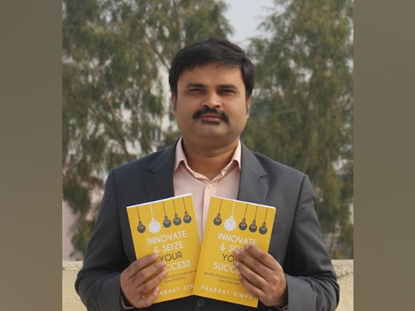 Author Prabhat Sinha launching his Book titled 'Innovate & Seize Your Success'