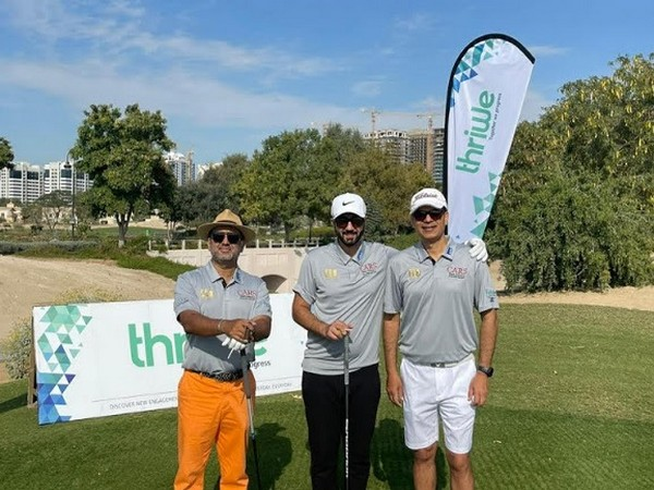 L to R: Golfers Muzaffar Khokhar, Marwan Hadi and Pankaj Kundra participated in the CEO Masters 2021 supported by Thriwe, India's leading consumer benefits marketplace