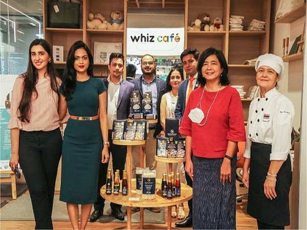 H.E. Ms. Pattarat Hongtong, Ambassador of Thailand to India launching 'Namaste Thai Flavours 2021' campaign at Whiz Cafe by MQDC India