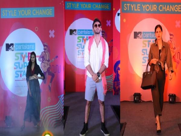 The Finalists of MTV Pantaloons Style Superstars Srijita Ghosh from Kolkata, Prakhar Narayan from Lucknow and Ekanshi Singhal from Ahmedabad