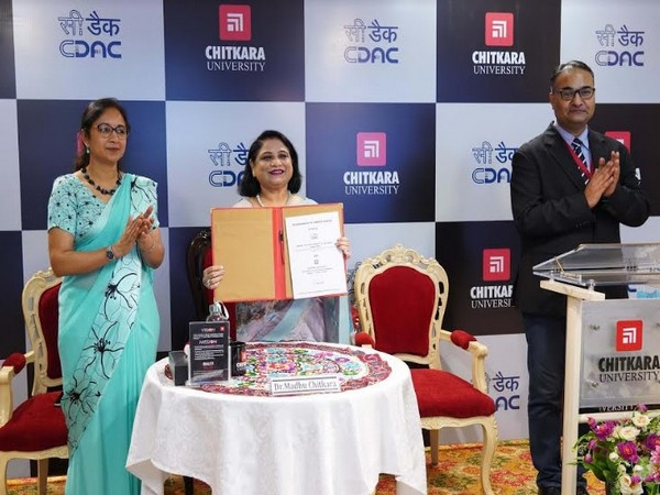 MoU signed during the Virtual Commemoration of 33rd Foundation Day of C-DAC with Chitkara University