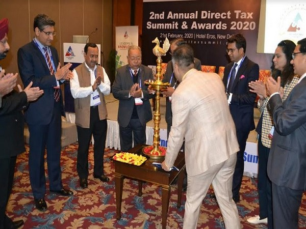 Dr BBL Madhukar, Founder, Director General of BRICS Chamber of Commerce & Industry lighting the lamp with guests at the event