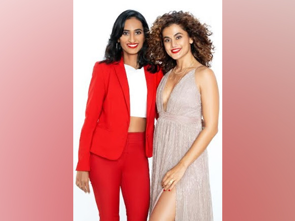 Vineeta Singh, CEO & Co-founder, SUGAR Cosmetics with Bollywood celebrity Taapsee Pannu