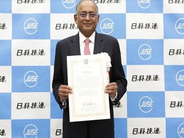 Venu Srinivasan conferred with the prestigious Deming 'Distinguished Service Award For Dissemination