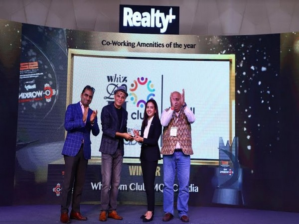 Chulamas Jitpatima, Director, MQDC India receiving the 'Co-Working Amenities of the Year' Award at the national Realty+ Co-working Summit & Awards 2020