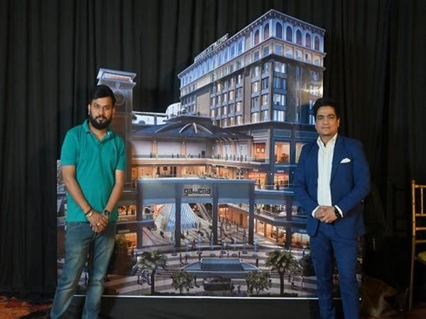 Abhishek Pandey (Left), Marketing Head and Atul Singhal (Right), Sales head at the ground floor elevation of Sawasdee JLG Galleria