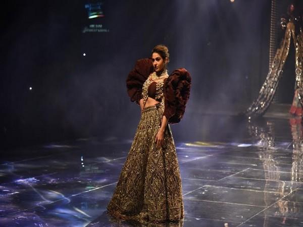 Sara Ali Khan walks for Abu Jani and Sandeep Khosla at the Blender's Pride Fashion Tour