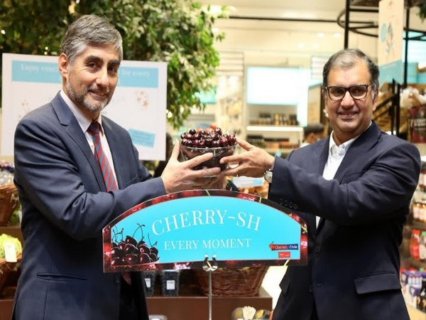L-R: Juan Angulo M, Ambassador of Chile in India with Sumit Saran, In-Country Marketing Representative, Chilean Cherries during the Chilean Cherries launch at an event in New Delhi