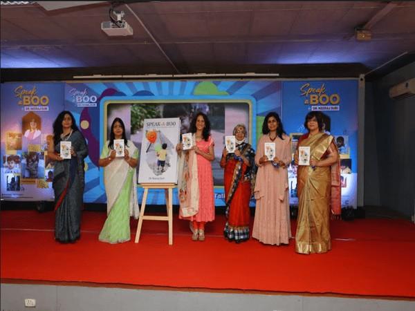Speak-A-Boo by Dr Neeraj Suri launched by (from left to right) - Dr Neena Bhalodia, Saroj Jain, Kaajal Oza Vaidya, Kusum Choppra, Shilpa Choksi and Dr Neeraj Suri