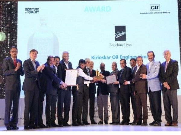 KOEL Managing Director and CEO RR Deshpande receiving the CII EXIM Bank Award for Business Excellence (2019)  from David Rasquinha, Managing Director and CEO EXIM Bank of India