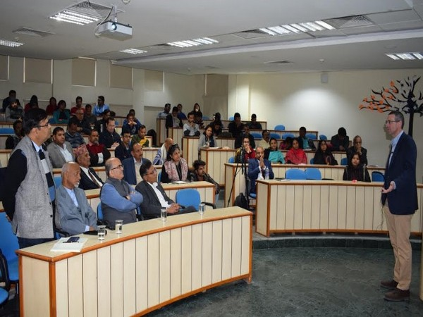 Alasdair Roberts, visiting Faculty at JK Lakshmipat University and Director of The School of Public Policy, UMass Amherst during his Open Session on Public Policy at the JK Lakshmipat University