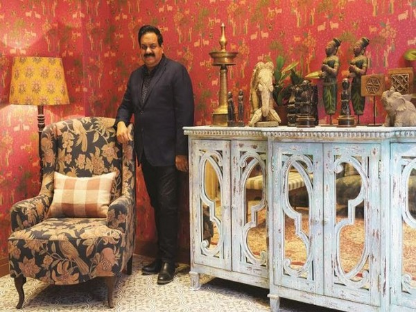 Amit Syngle MD and CEO Asian Paints with Sabyasachi for Nilaya Furnishing Range
