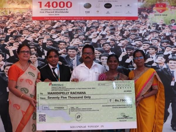 Chennais Amirta Sponsors Hotel Management Education of a Telangana Girl - Mamidipelly Rachana Doing Food Delivery Job in Hyderabad