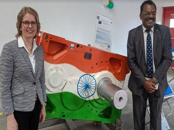 Jutta Humbert, Managing Partner NORD Drivesystems Group along with P L Muthusekkar, MD NORD Drivesystems Pvt Ltd at the launch of the extended facility