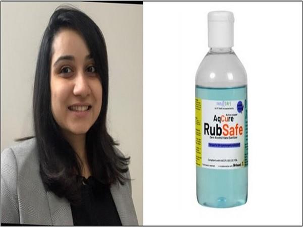 Nanosafe Solutions Founder, Dr Anasuya Roy & Rubsafe - the Zero Alcohol Sanitizer