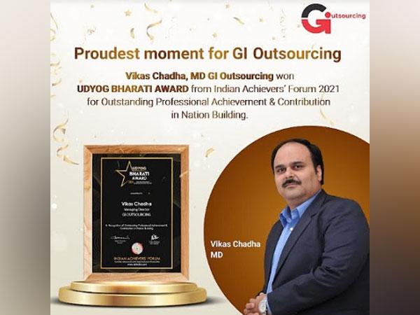 Vikas Chadha, MD, GI Outsourcing Won Udyog Bharati Award 2021