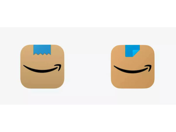 The old and the new Amazon app icon (Image courtesy: Twitter)