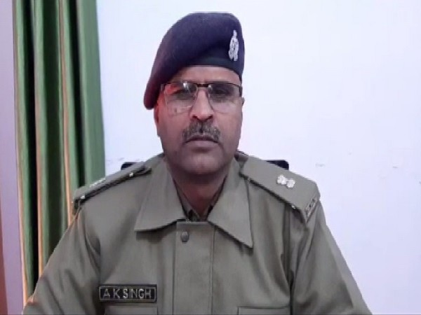 A police official speaking to media in Rampur, Uttar Pradesh on Monday.