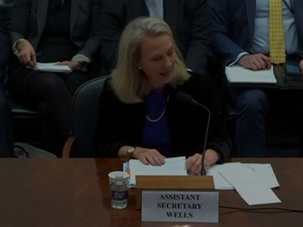 Acting Assistant Secretary of State for South and Central Asia Alice G Wells speaking at the US congressional hearing in Washington D.C. on Tuesday.