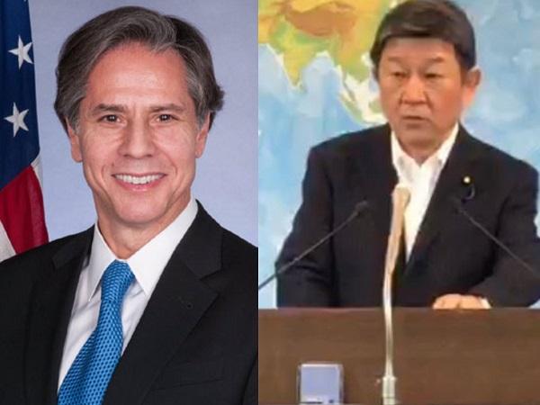 US Secretary of State Antony Blinken and Japanese Foreign Minister Toshimitsu Motegi (ANI)