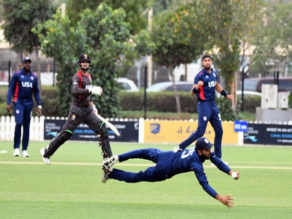 USA and UAE teams at ICC Academy (Photo/Emirates Cricket Twitter)