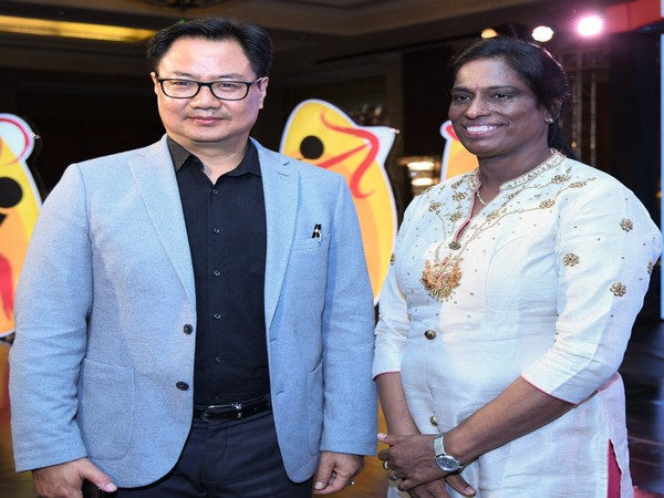 Kiren Rijiju with PT Usha (Photo/Kiren Rijiju Twitter)