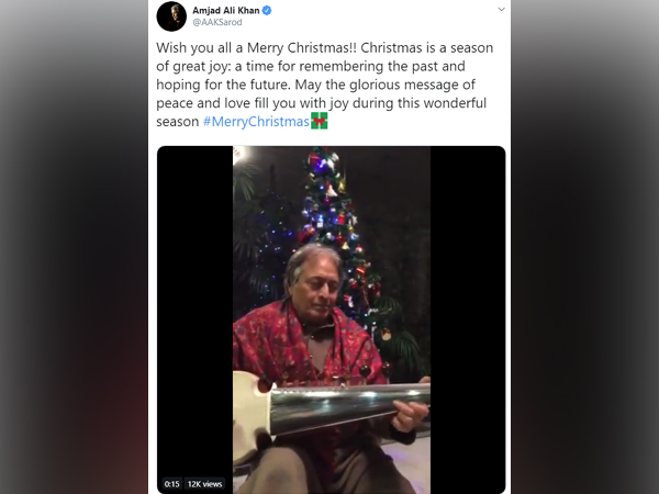 Sarod legend wishes his fans a musical Merry Christmas