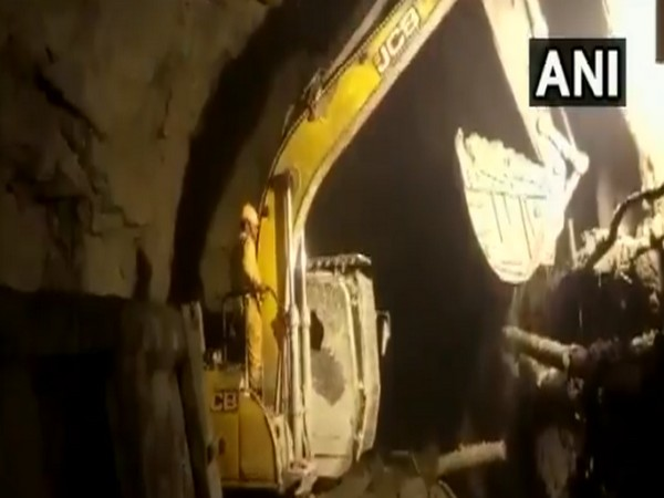 Visuals from the Tapovan tunnel. (Photo/ANI)