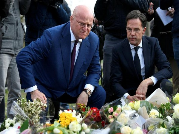 Dutch PM Mark Rutte paying tribute to the victims on March 19 in Utrecht, Netherlands