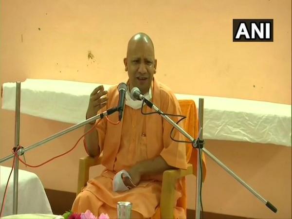Uttar Pradesh Chief Minister Yogi Adityanath speaking in Ayodhya on Saturday.