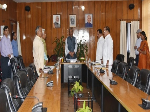 Uttarakhand Cabinet pays tribute to late state Finance Minister Prakash Pant in Dehradun on June 19.