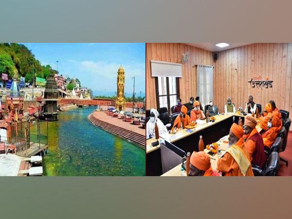 Uttarakhand CM holds meeting with ABAP office-bearers on Sunday. (Photo/ANI)