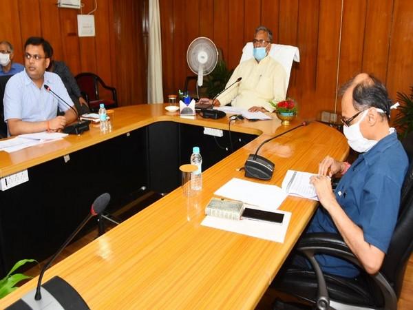 Uttarakhand Chief Minister Trivendra Singh Rawat at secretariat on Wednesday. (Photo/ANI)