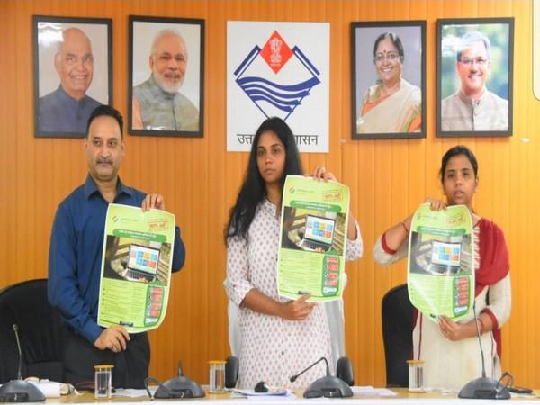 Uttarakhand CEO Sowjanya launched 'Voter Verification Program' for Uttarakhand on Sunday in Dehradun. Photo/ANI