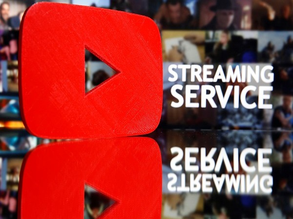 A 3D-printed Youtube logo