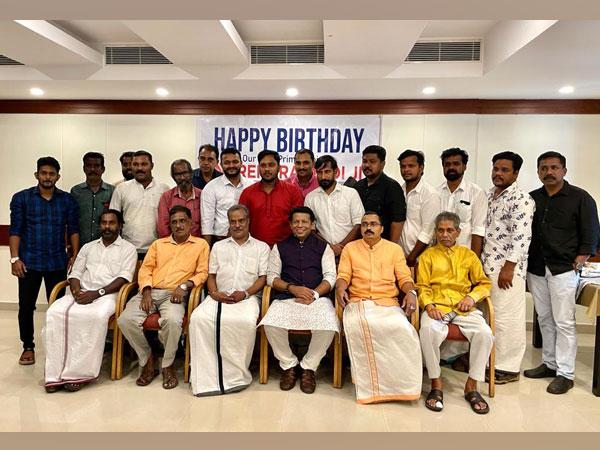 Khans Media City's President, Dr Mohammed Khan, celebrated Prime Minister Narendra Modi's birthday with under privileged children