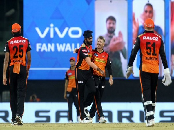 SRH players celebrating after taking a wicket (Image: BCCI/IPL )