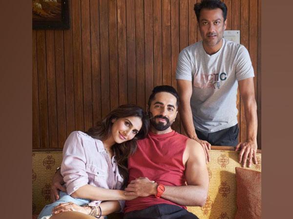 Actors Vaani Kapoor, Ayushmann Khurrana and filmmaker Abhishek Kapoor (Image source: Instagram)