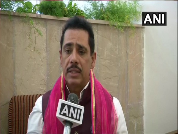 Robert Vadra speaking to ANI in Ajmer on Tuesday.