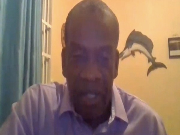 Dominica opposition leader Lennox Linton speaking to ANI on Wednesday.