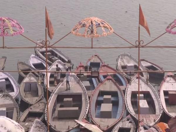 At Assi Ghat in Varanasi. (Photo/ANI)