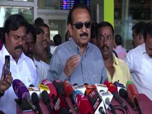 MDMK chief Vaiko speaking to the media in Chennai on Thursday. Photo/ANI