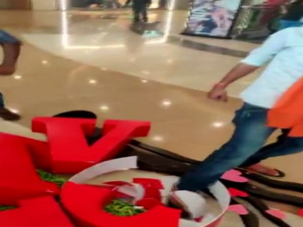 Visuals from a mall in Hyderabad.
