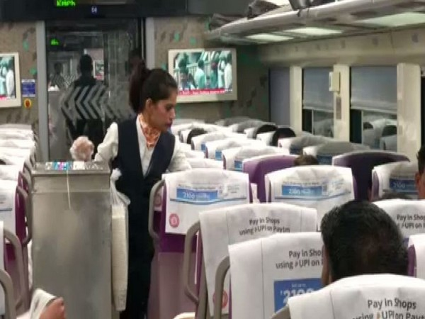 Indian Railways has implemented a pilot project of deploying air hostesses and flight stewards in Vande Bharat Express