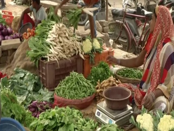 Visual from a vegetable market in Varanasi, Uttar Pradesh. (Photo/ANI)