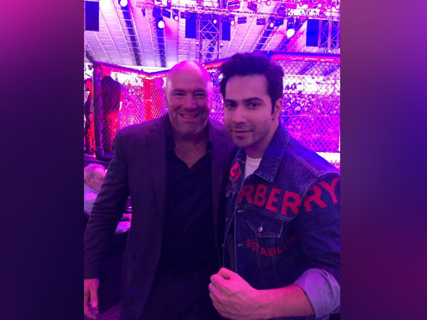 Varun Dhawan and Dana White