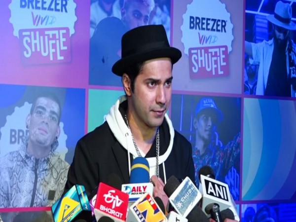 Varun Dhawan speaking about single-use plastic ban at the sidelines of an event in Mumbai
