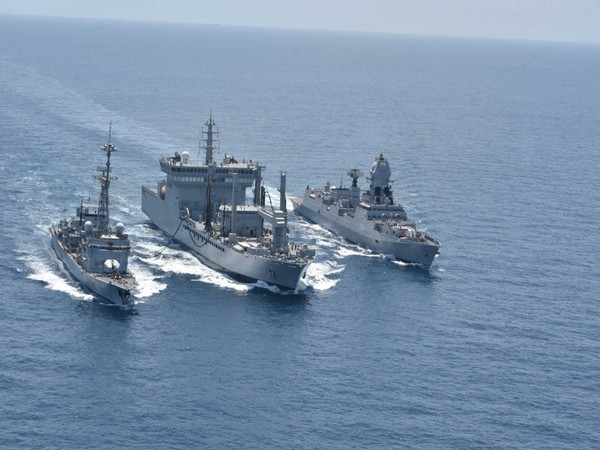 "Second day of the sea phase of the Indo-French Naval exercise ""Varuna"""