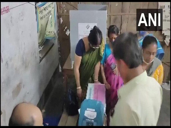 Visual from a polling booth in Jagatdal constituency