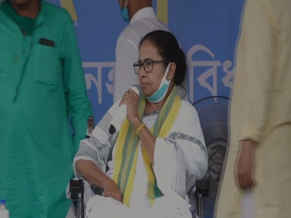 West Bengal Chief Minister Mamata Banerjee speaking in Coochbehar on Friday (Photo/ANI)